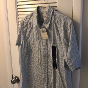 Lucky brand short sleeve button down size L